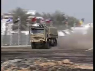 Russian Kamaz trucks in action at IDEX